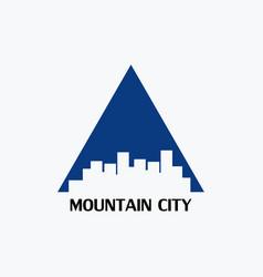 Mountain city logo vector