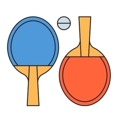 Table tennis ping pong vector image