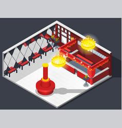 theatre hatcheck room composition vector image vector image