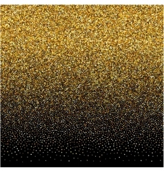 background with gold gradient texture on black vector image vector image