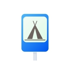 Camping traffic sign icon cartoon style vector image vector image