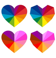 colorful hearts set vector image
