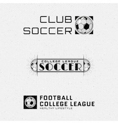 Football Soccer badges logos and labels for any vector image