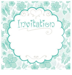 invitations card vector image vector image