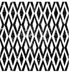 Seamless vintage rhombus pattern with grunge vector