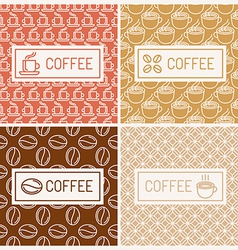 Design elements for coffee houses vector image