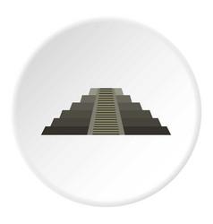 el castillo mayan pyramid at chichen itza icon vector image