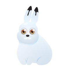 Polar hare on a white background vector image