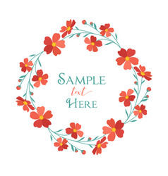 wreath red flowers vector image vector image