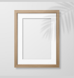 3d realistic a4 brown wooden simple modern vector