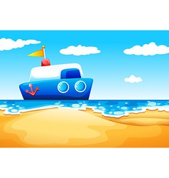 A sea with a boat vector image