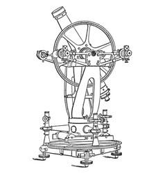 Altazimuth theodolite vintage vector