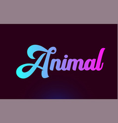 Animal pink word text logo icon design for vector