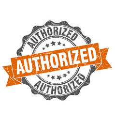Authorized stamp sign seal vector