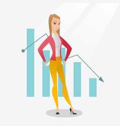 Bancrupt business woman vector