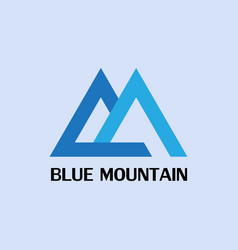 Blue mountain logo vector