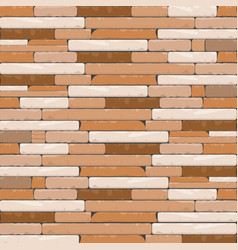 Brick textures background in shades of brown and vector