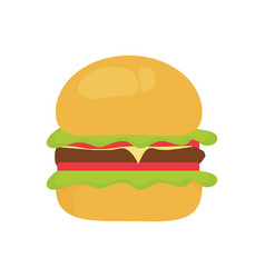 burguer vector image
