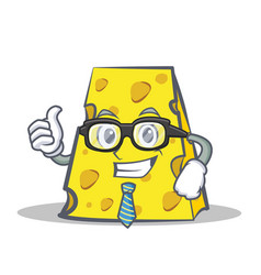 businessman cheese character cartoon style vector image