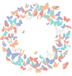 butterfly frame wreath design element retro vector image