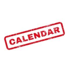 Calendar Text Rubber Stamp vector