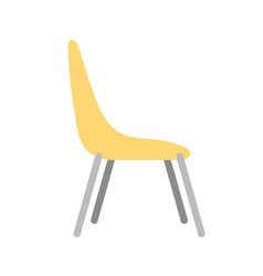 chair desk isolated iicon vector image