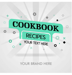 Chinese cookbook recipes american cookbook vector