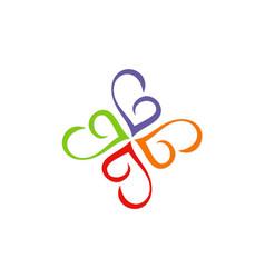 circle love abstract swirl logo vector image
