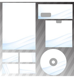 Corporate abstract wave templates vector image
