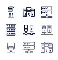 Datacenter icons vector