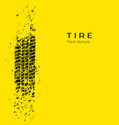 dirt track from car wheel protector tire vector image