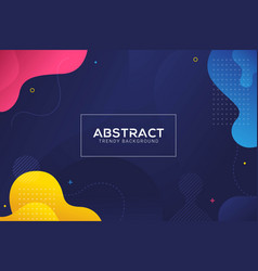 dynamic abstract liquid color gradation background vector image