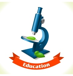 Education icon microscope vector image