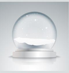 Empty snow globe vector