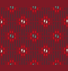 ethnic ornament from rectangles vector image