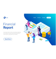 Financial report concept people do paperwork vector