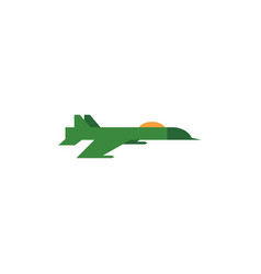 Flat army military jet fatherland defender vector