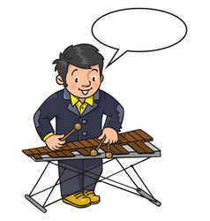 Funny musician or xylophone player vector