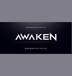 Game sport movie alphabet font typography modern vector