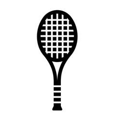 glyph beautiful tennis racket icon vector image