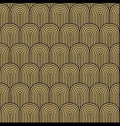 Golden black seamless background vector