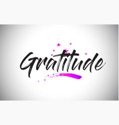 Gratitude handwritten word font with vibrant vector