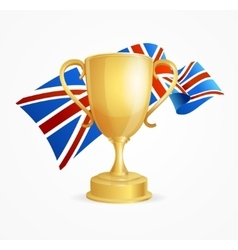 Greate britain winning golden cup concept vector