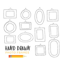 hand-drawn frames vector image