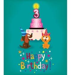 Happy Third Birthday vector