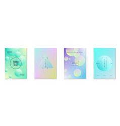 holographic cover set with radial fluid vector image