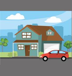 house home cartoon vector image