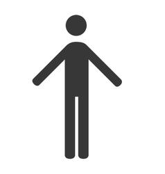 Human male body icon vector