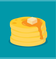 isometric icon of pancakes flat vector image