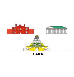 Israel haifa flat landmarks vector